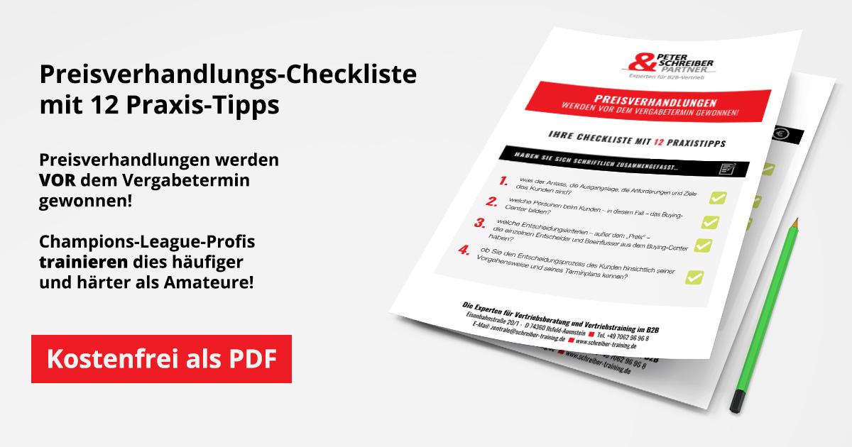 Preisverhandlungs-Checkliste